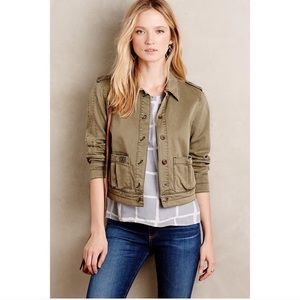 Hei Hei Anthropologie Cropped Military Jacket